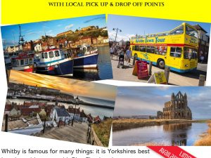 Whitby on 13th May is Only £23.00 for adults & £10.00 for children