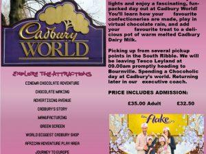 Cadbury's World Wednesday 20th February 2019