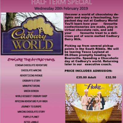 Cadbury's World Wednesday 20th February 2019